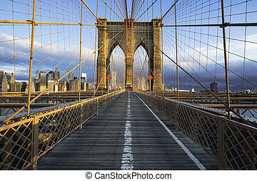 Brooklyn Bridge in Manhattan