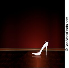 dark room and the white shoe - dark room and the large whiye...