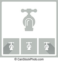 Faucet icon, EPS10, This illustration contains transparency