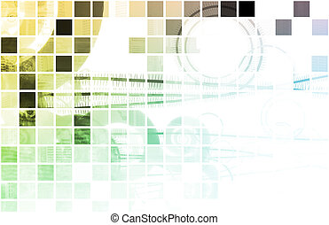 Corporate Background - Corporate Abstract as a Modern...