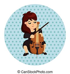 character musician cellist theme elements