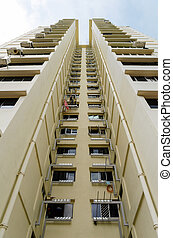 Singapore residential buildings - view of Singapore...