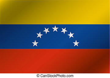 país, Ilustración, bandera, ondulado,  venezuela,  3D