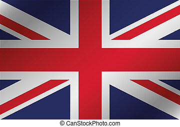 3D Wavy Flag Illustration of the country of  United Kingdom