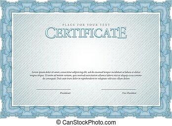 Vintage Certificate. Template diplo - Vintage Certificate....