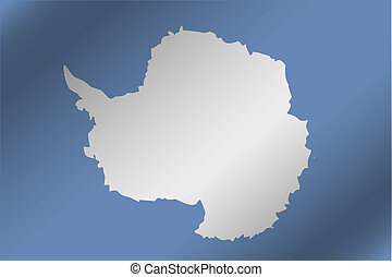 3D Wavy Flag Illustration of the country of Antartica - A 3D...