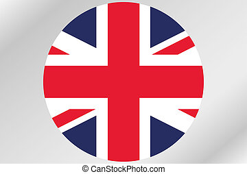 Flag Illustration within a circle of the country of  United Kingdom