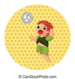 volleyball player theme elements