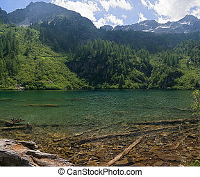 Lago Barco, Italy - landscape of Barco lake in Trentino,...