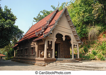 Buddhist temple of Golden Triangle - The old Buddhist temple...