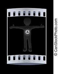 3D man - safe. The film strip