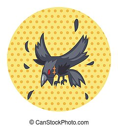 bird crow cartoon theme elements vector,eps