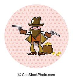 cowboy theme elements vector,eps
