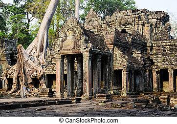 Preah Khan, part of Khmer Angkor temple complex, popular...