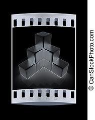 Metall block diagram. The film strip