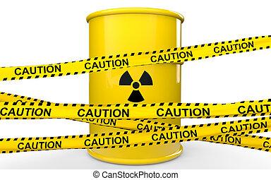 3d radiations symbol barrel ribbons