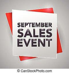 SEPTEMBER SALES EVENT, poster design element