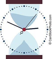 Clock and hour glass time changes - Illustration of clock...