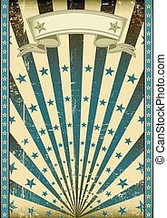 grunge flag blue sunbeams