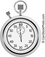 stopwatch - vector stopwatch on white background