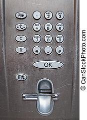 Used payphone control panel