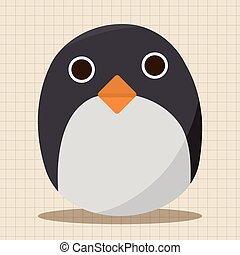 baby penguin doll theme elements