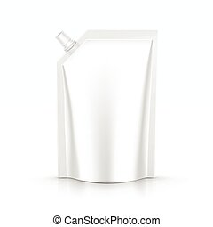 Sauce mayonnaise packaging package pack bag isolated vector...