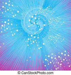 Spiral burst with stars