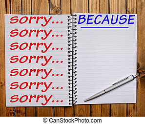 Sorry Because word on notepad