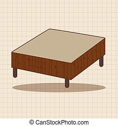furniture theme table desk elements vector,eps