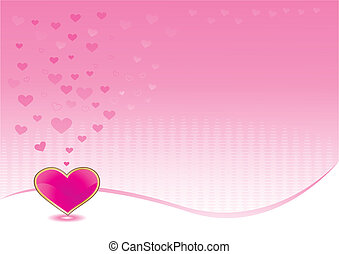 Pink background with shiny heart