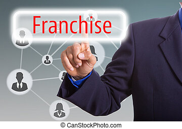 Franchise business concept - Franchise business concept with...