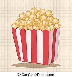 pop corn theme elements
