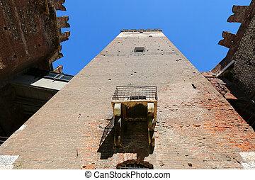Castelvecchio Castle Fortress - A balcony, part of the...