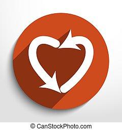 Vector dating arrow web icon.