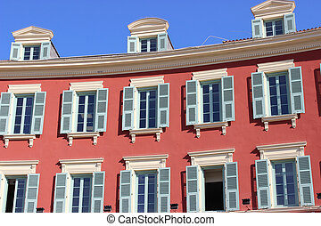 Beautiful building on the Place Massena in Nice