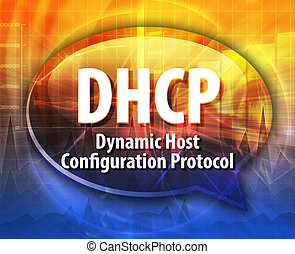 DHCP acronym definition speech bubble illustration - Speech...