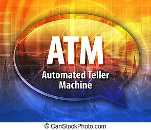 ATM acronym definition speech bubble illustration - Speech...