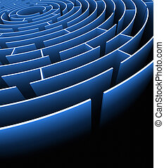 Labyrinth Exit - Labyrinth with exit . Concept of finding a...