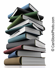 Knowledge Concept - Stack of books. Knowledge Concept.
