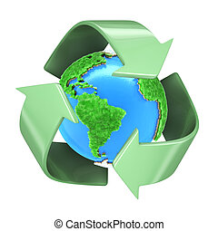Recycling Planet Earth - A 3D concept of the Planet Earth...