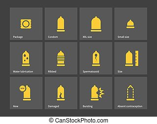 Condom and Safe sex icons.