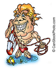 lifeguard madness - overly excited lifeguard hoping to save...