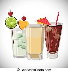 Cocktail design - Cocktail digital design, vector...