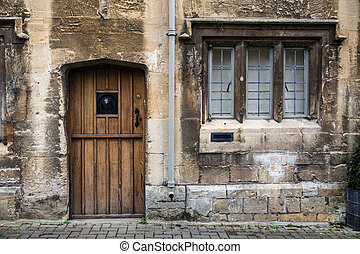 Cotswolds Home - Details of door and window exterior on...