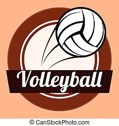 Volleyball design - Volleyball digital design, vector...