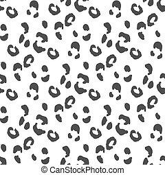 Leopard skin seamless pattern Monochrome wild cat camouflage...