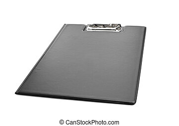 black folding clipboard - a new black folding clipboard on a...