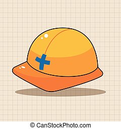 safety helmet theme elements