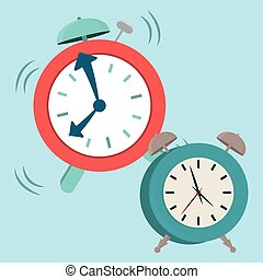 Clock design - Clock digital design, vector illustration 10...